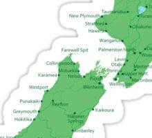 New Zealand's Map Sticker