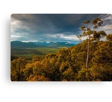 Valley of soft light Canvas Print