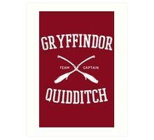 Hogwarts Quidditch Team: Gryffindor Art Print