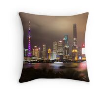View from Bar Rouge Shanghai Throw Pillow