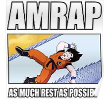 AMRAP - As Much Rest As Possible - Goku Sleeping Poster