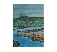 An Surr in the clouds, Island of Eigg Art Print