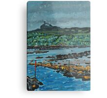 An Surr in the clouds, Island of Eigg Metal Print
