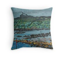 An Surr in the clouds, Island of Eigg Throw Pillow