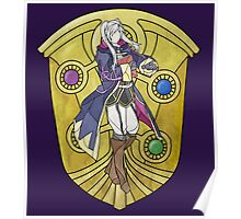 Stained Glass Female Robin Poster