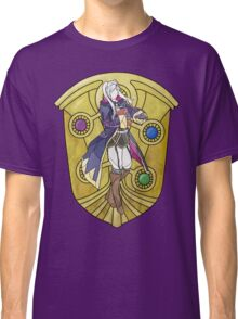 Stained Glass Female Robin Classic T-Shirt