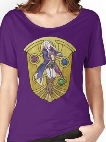 Stained Glass Female Robin Women's Relaxed Fit T-Shirt