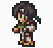Yuffie Kisaragi sprite - FFRK - Final Fantasy VII (FF7) One Piece - Long Sleeve