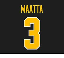 Pittsburgh Penguins Olli Maatta Jersey Back Phone Case by Russ Jericho