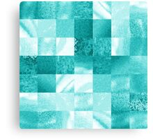 Baby Blue Marble Quilt I Canvas Print