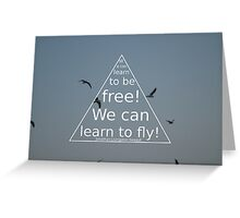 Jonathan Livingston Seagull Quote Greeting Card