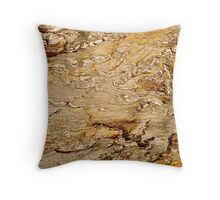 Orange Rock Throw Pillow