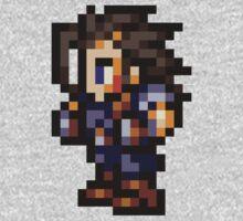 Zack Fair sprite - FFRK - Final Fantasy VII (FF7) One Piece - Long Sleeve