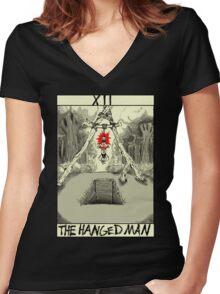 Tarot: The Hanged Man Women's Fitted V-Neck T-Shirt