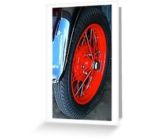 and old sized tire…… Greeting Card
