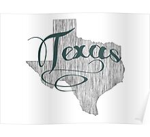 Texas State Typography Poster