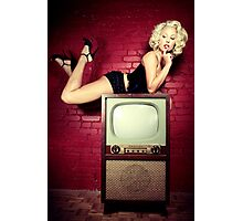 Blond on a TV Photographic Print