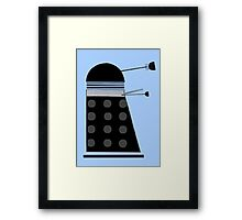 Dalek (Black) Framed Print