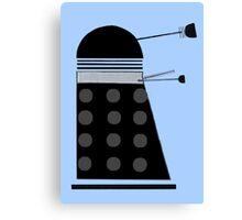 Dalek (Black) Canvas Print
