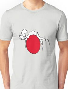Girl having fun on her red planet Unisex T-Shirt