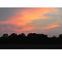 Indiana Sunset 7/27/11 Photographic Print