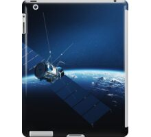 Communications satellite orbiting earth iPad Case/Skin