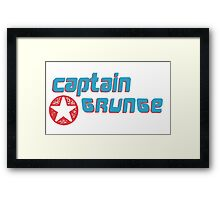 Captain Grunge MUSIC Framed Print