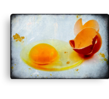 Broken egg Canvas Print