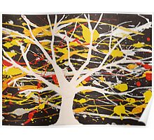 """The White Tree"" wall art Original print painting tree abstract decor wall art starry night tree of life Poster"