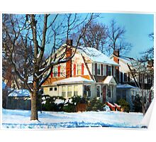 House Down the Street in Winter Poster