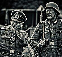 Officer and soldier by cameraimagery