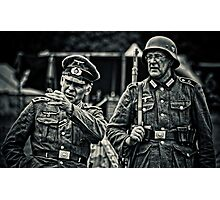 Officer and soldier Photographic Print