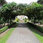 Brodsworth Hall through the arches by Audrey Clarke