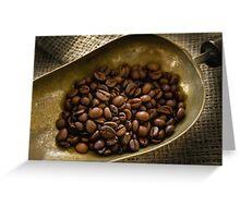 Coffee Beans Greeting Card