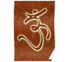 OM, AUM HINDU, HINDUISM, HINDU GOD, GANESH, GANESHA Poster