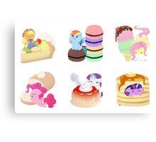 Ponies x Sweets Canvas Print