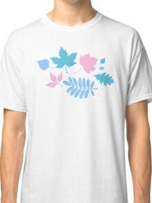 Pastel Leaves Pattern Classic T-Shirt
