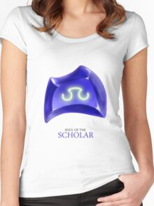 Soul of the Scholar -white Women's Fitted Scoop T-Shirt