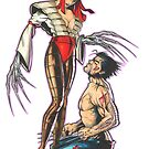 Lady Deathstrike and Wolverine by paulabstruse
