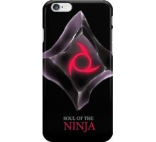 Soul of the Ninja -black iPhone Case/Skin
