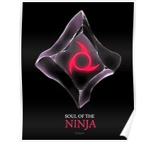 Soul of the Ninja -black Poster