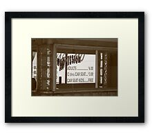 Route 66 - Drive-In Theatre Framed Print
