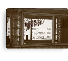 Route 66 - Drive-In Theatre Canvas Print