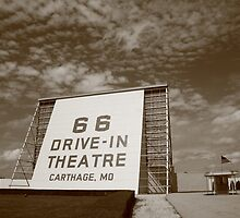 Route 66 Drive-In Theatre by Frank Romeo