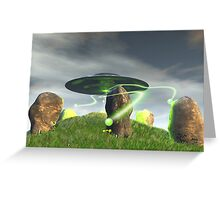 UFO and Ancient Stone Circle Greeting Card