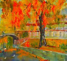 Taking a stroll by the Yarra - Melbourne VIC Australia by Margaret Morgan (Watkins)