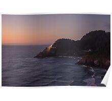 Heceta Head Light, Lane County, Oregon, USA Poster