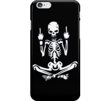 Awesome Middle Finger Skull iPhone Case/Skin