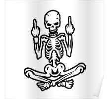 Awesome Middle Finger Skull Poster