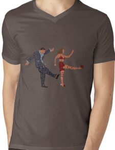 I'll never tell typography Mens V-Neck T-Shirt